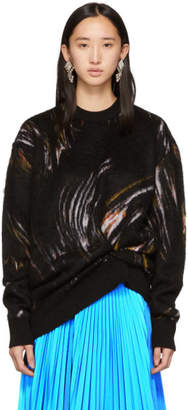 Givenchy Black Mohair Wave Sweater