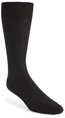 John W. Nordstrom R) Cable Knit Merino Blend Socks