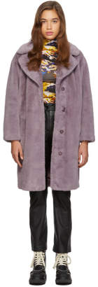 Stand Studio Purple Camille Cocoon Coat