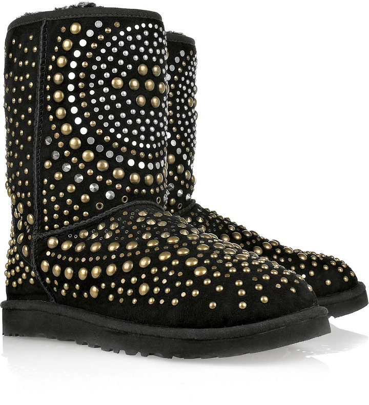 Jimmy Choo Mandah studded suede boots