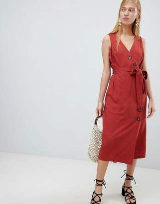 New Look Button Side Midi Dress