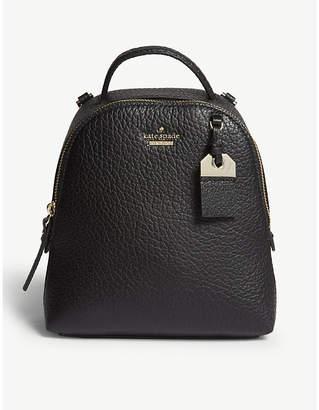 Kate Spade Black Carter Street Mini Caden Leather Backpack