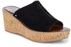 Sam Edelman Women's Ranger Suede Wedge Slides - Brown - Size 40.5 (10.5) Sandals