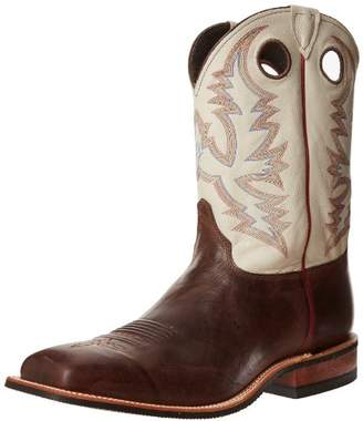 """Justin Boots Men's U.S.A. Bent Rail Collection 11"""" Boot Wide Square Double Stitch Toe Performance Rubber Outsole"""