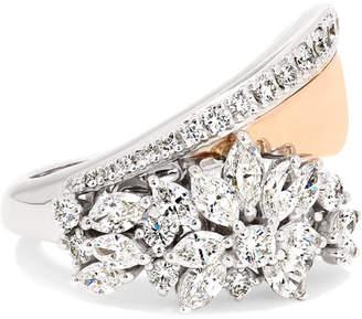 YEPREM - 18-karat Rose And White Gold Diamond Ring - Rose gold