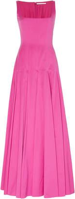 Emilia Wickstead Amita Square Neck Cotton-Blend Gown