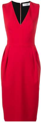 Victoria Beckham V-neck crepe dress