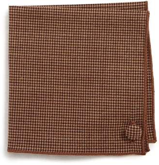 Wilson Armstrong & Houndstooth Wool Pocket Square
