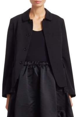 Comme des Garcons Wool Lace-Hem Blazer Jacket