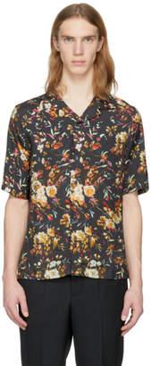 McQ Black Short Sleeve Floral Billy Shirt
