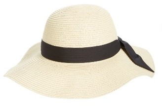 Women's Bp. Bow Band Floppy Straw Hat - Beige $25 thestylecure.com