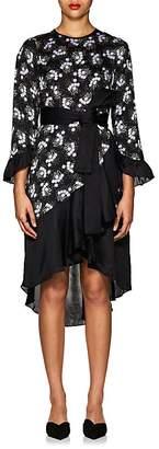 By Ti Mo byTiMo Women's Lilac-Print Satin Wrap Dress