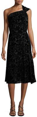 Cushnie et Ochs Burn Out Velvet One-Shoulder Dress