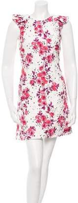 Giamba Star and Floral Print Quilted Dress w/ Tags White Star and Floral Print Quilted Dress w/ Tags