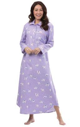PajamaGram Women's Cotton Flannel Nightgown - Long Nightgown