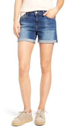 Women's Mavi Jeans Marla Roll Cuff Denim Shorts $58 thestylecure.com