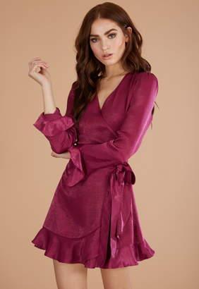 Donna Mizani Eliza Mini Wrap Dress