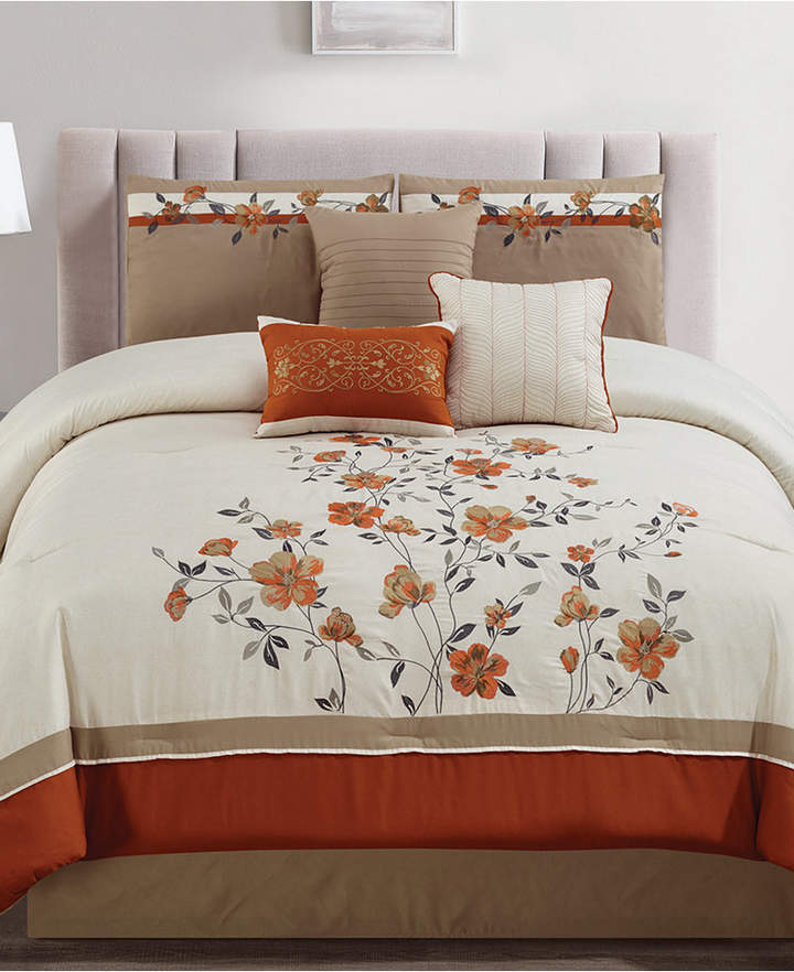 Buy Hallmart Collectibles Judith Spice 7-Pc. Embroidered California King Comforter Set Bedding!