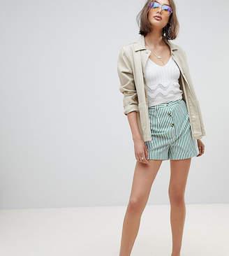 Reclaimed Vintage Inspired Stripe Mom Short