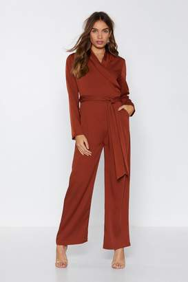 Nasty Gal Doing It for the Wraps Wide-Leg Jumpsuit