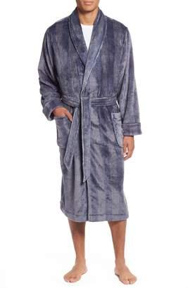 Nordstrom Glen Check Fleece Robe