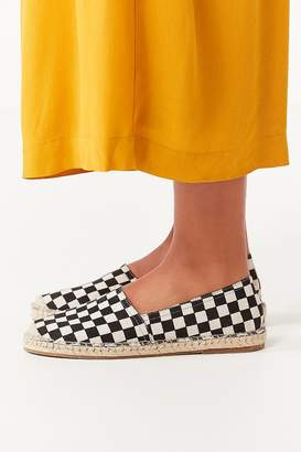 Urban Outfitters Checkerboard Espadrille Flat