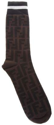 Fendi Black & Brown Cotton Socks