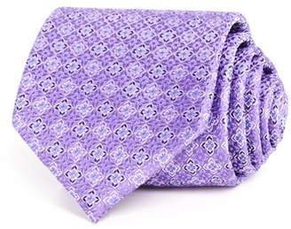 Bloomingdale's The Men's Store at Textured Square Floret Classic Tie - 100% Exclusive
