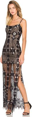 BCBGMAXAZRIA Evelina Maxi Dress $468 thestylecure.com