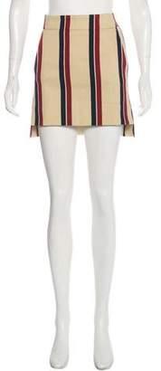 Dries Van Noten Stripe Mini Skirt