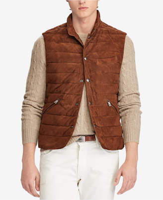 Polo Ralph Lauren Men's Quilted Suede Vest