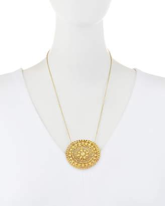 Alex Woo Zahrah Crescent Round Pendant Necklace