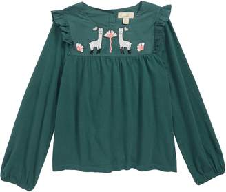 Peek Lily Embroidered Top