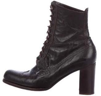 Stephane Kelian Leather Lace-Up Ankle Boots