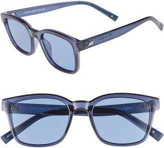 Le Specs Alpha Basic 53mm Rectangular Sunglasses
