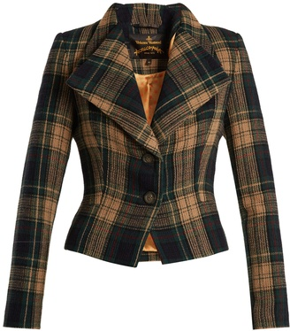 VIVIENNE WESTWOOD ANGLOMANIA Porta wool-blend tartan blazer