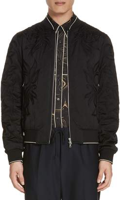 Dries Van Noten Vinny Quilted Embroidered Bomber Jacket
