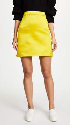 ADAM by Adam Lippes Duchess Satin A-Line Miniskirt