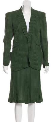 Jean Paul Gaultier Striped Skirt Suit