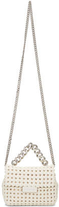 Stella McCartney Ivory Mini Becks Weaved Bag