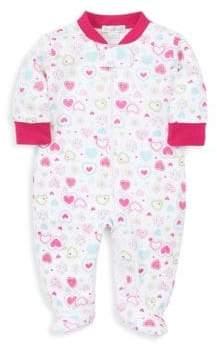 Kissy Kissy Baby's Pima Cotton Heart Print Footie