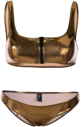 Lisa Marie Fernandez zipped detail bikini set