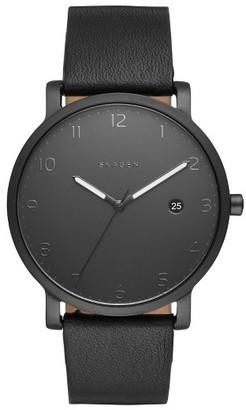 Skagen Hagen Leather Strap Watch, 40Mm $165 thestylecure.com