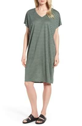 Eileen Fisher Stripe Organic Linen Shift Dress
