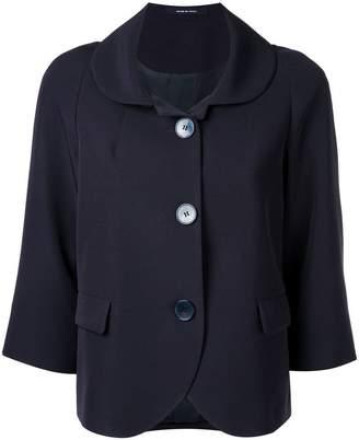 Tagliatore crop sleeve buttoned jacket