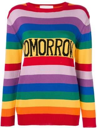 Alberta Ferretti Tomorrow rainbow sweater