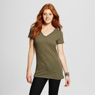 Mossimo Supply Co. Women's Vee T-Shirt - Mossimo Supply Co. (Juniors') $9 thestylecure.com