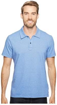 Agave Denim Short Sleeve Polo Italian Pique in Chambray Men's Clothing