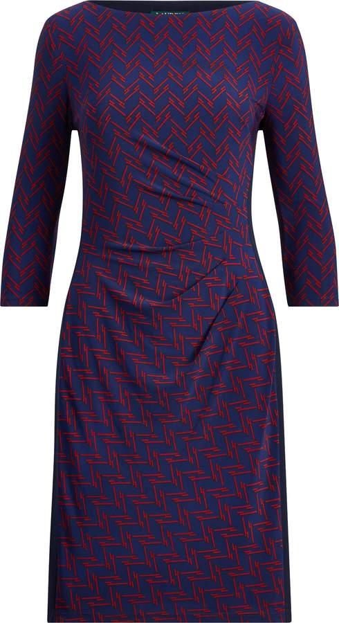 Ralph Lauren Print Stretch Jersey Dress