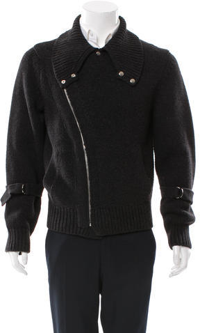 Yves Saint Laurent Virgin Wool Zip Cardigan